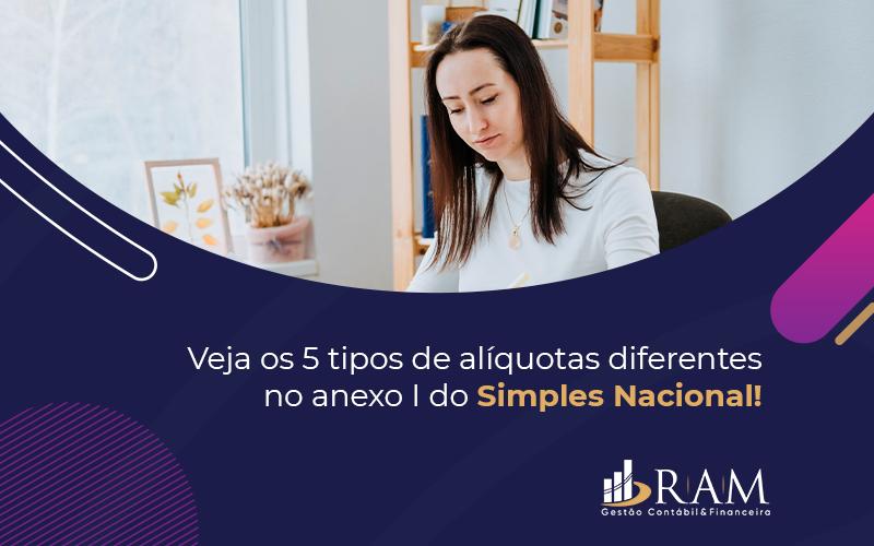 Veja Os 5 Tipos De Aliquotas Diferentes No Anexo I Do Simples Nacional= - Ram Assessoria Contábil
