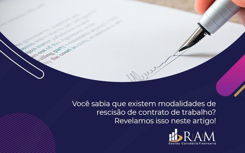 Rescisão De Contrato De Trabalho - Ram Assessoria Contábil